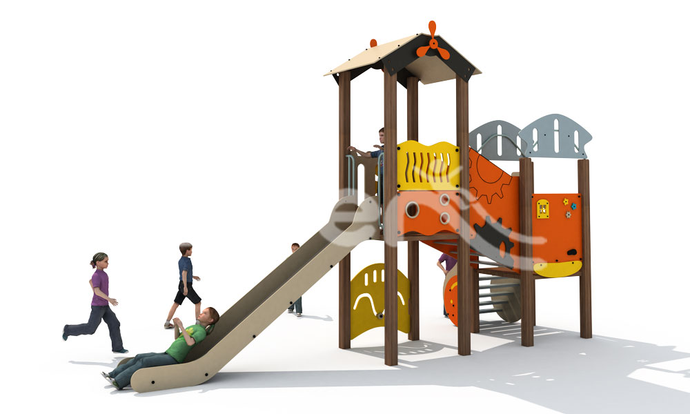 Hot Style Of Outdoor Combined Slide At Home